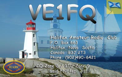 VE1FQ QSL card